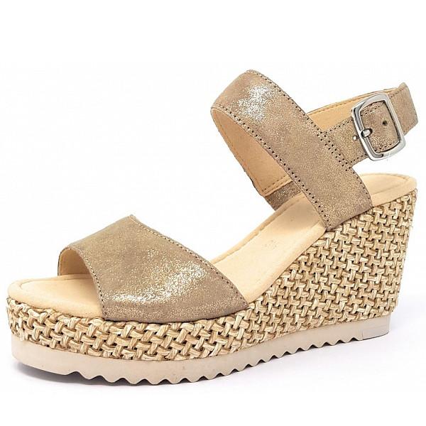 Gabor Sandale 62 beige/gold