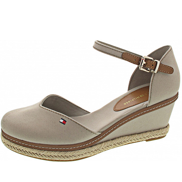Tommy Hilfiger Closed Toe Mid Wedge Sandalette stone