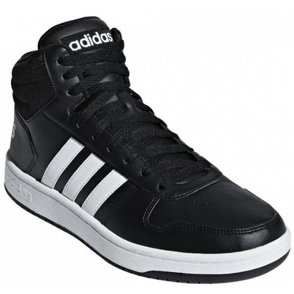 adidas Hoops 2.0 Mid Sneaker in core black