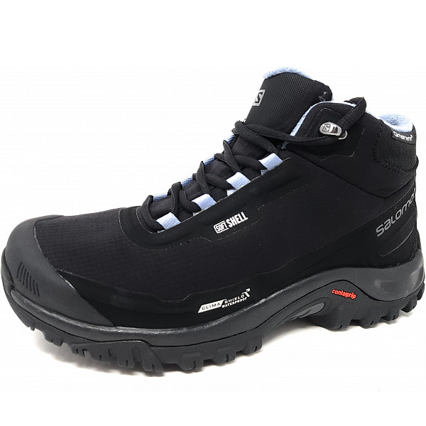 Salomon Shelter CS Wanderschuh black, stone blue