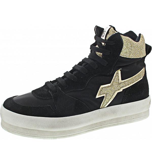 W6YZ Sneaker glitter nero-platino