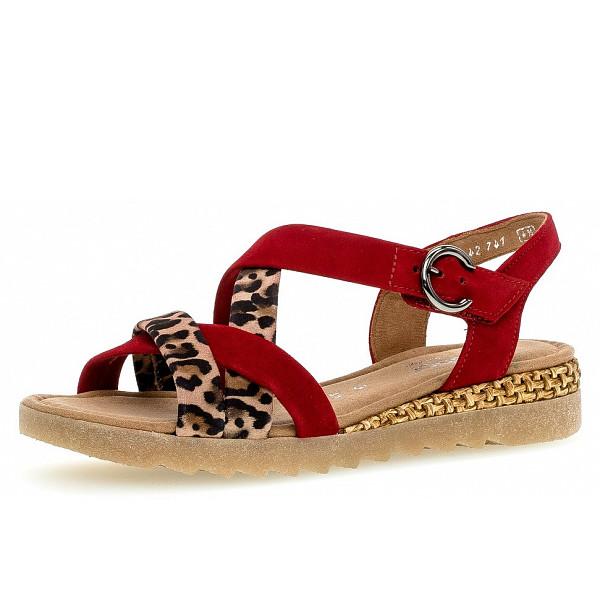 Gabor Comfort Weite G Sandale in rubin natur lux