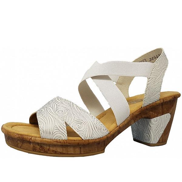 80 Weiß 69720 Rieker Silber Sandalette EH9YW2ID