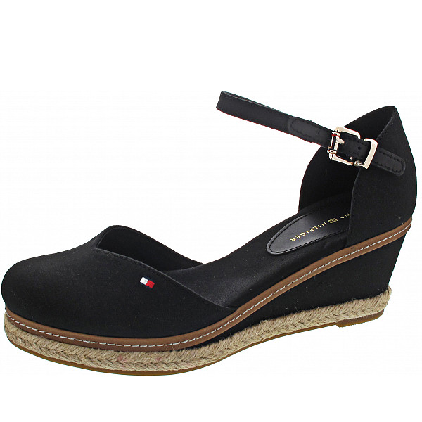 Tommy Hilfiger Closed Toe Mid Wedge Sandalette black