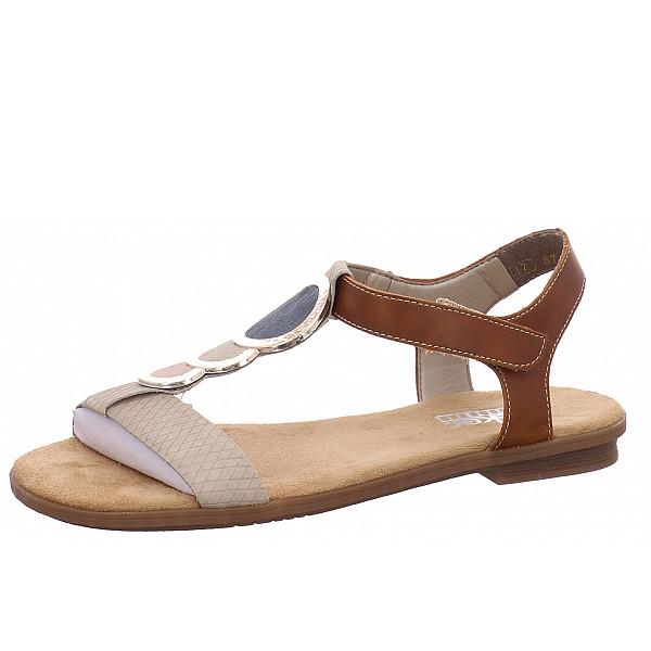 rieker flache Sandaletten beige