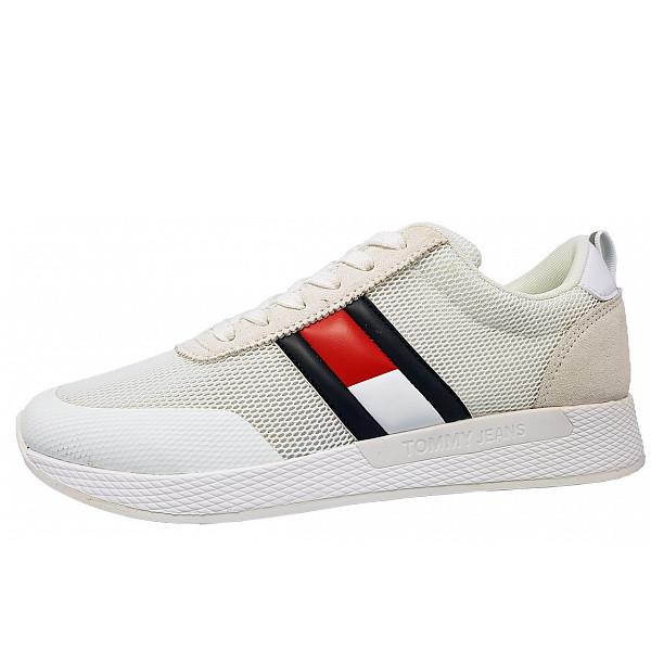 Tommy Hilfiger Flag Sneaker Schnürer YBS white