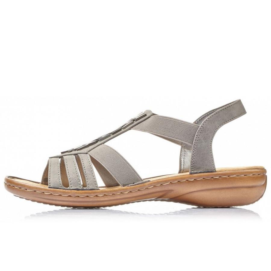 Rieker Sandale grau 60800 42 | versandkostenfrei H0YGd