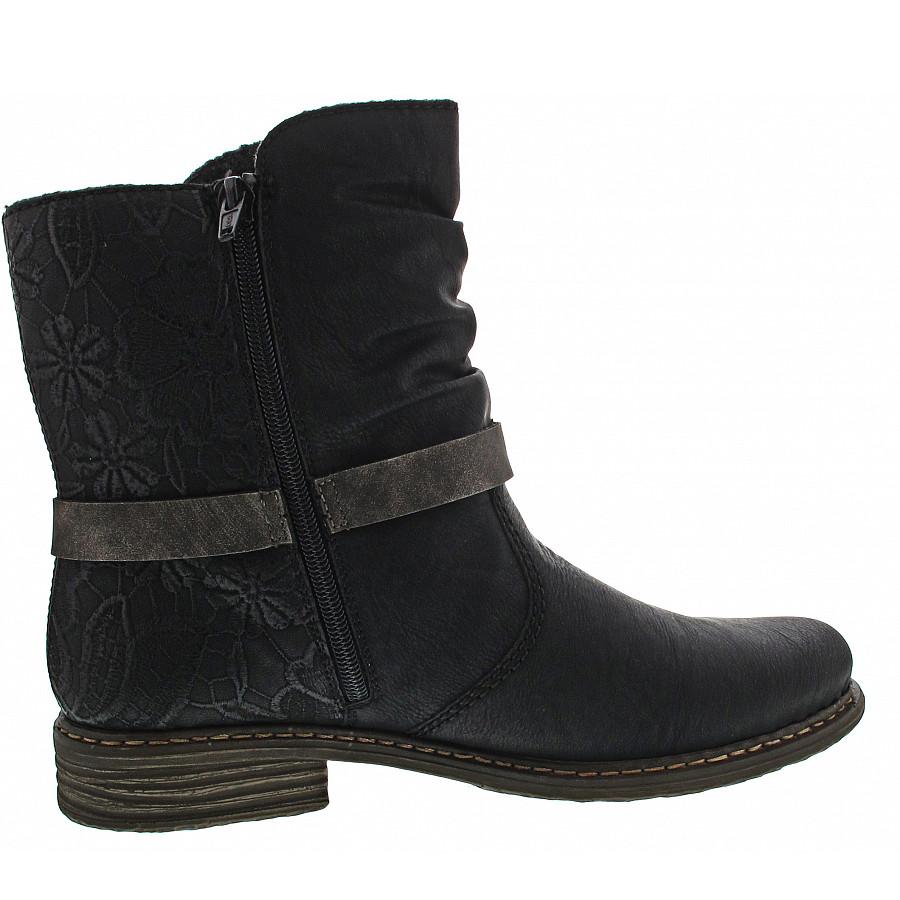 Rieker Damen Stiefel Stiefeletten Schnürstiefel schwarz Z21P0 NEU!