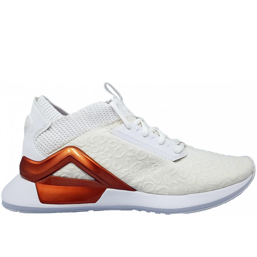 Puma Rogue Metallic WN´s sportlicher Schnürer 02 white gold