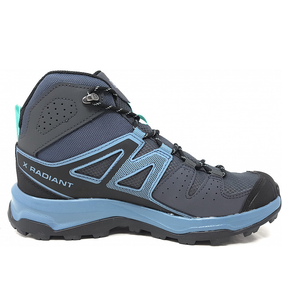 Salomon X Radiant Mid GTX Trekkingschuh in ebony blue stone Icy