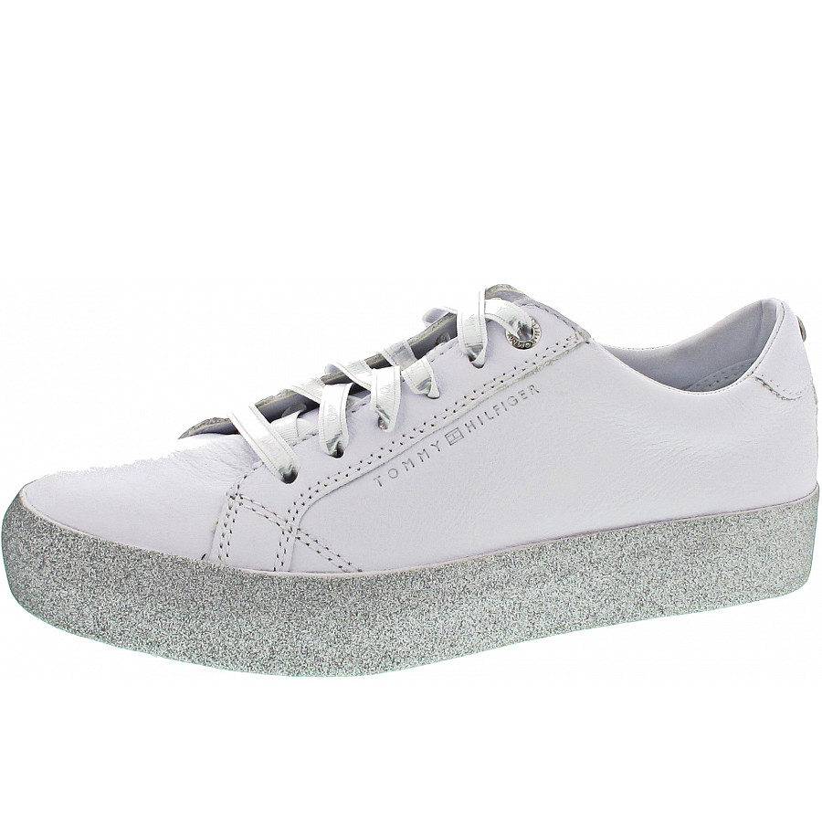 brand new f48d9 4d7cb Tommy Hilfiger Glitter Dress Sneaker Sneaker in white