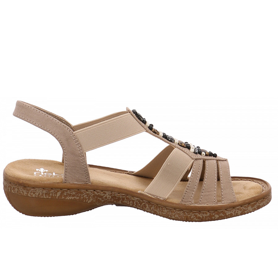 rieker bequeme Sandaletten beige 62851 60 Microvelo St4oT