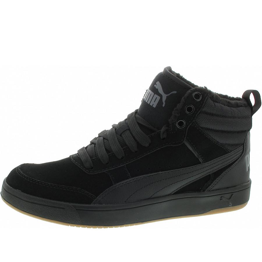 Puma Rebound Street V2 SD Fur Sneaker in puma black