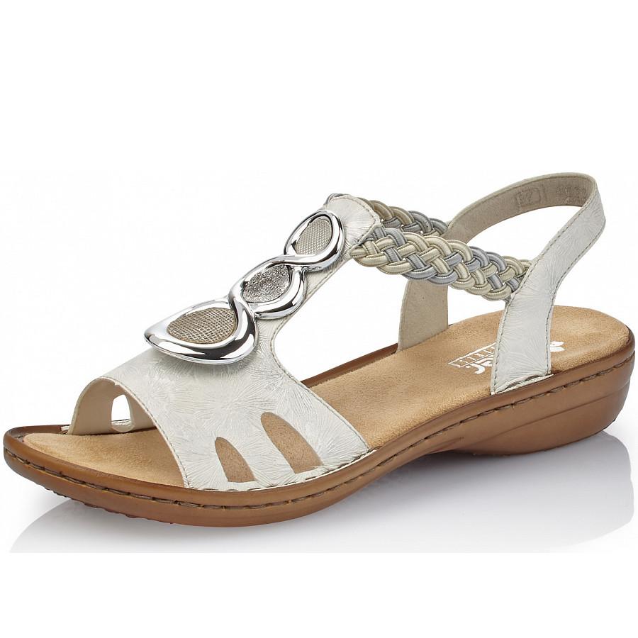 Rieker Sandalen in weiss silber beige